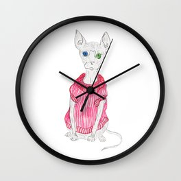 Sphynx cat Wall Clock