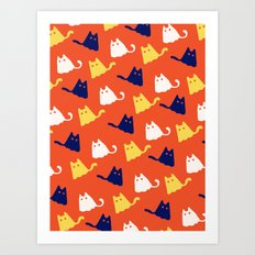 Ghostly Cats Art Print