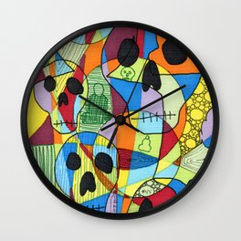 Skulls&Buddha 45 Wall Clock