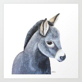 Baby Donkey painting art print Art Print
