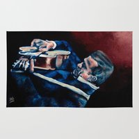 johnny cash Area & Throw Rugs featuring Johnny Cash by Nicole Kallenberg