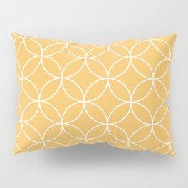 Mid Century Modern circles - yellow Pillow Sham