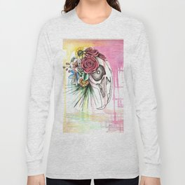 Skull and Flowers n.1 Long Sleeve T-shirt