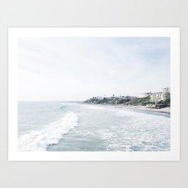 San Clemente Surfside  Art Print