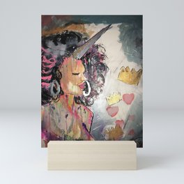 Black Unicorn: Sugar Oompa Loompa Mini Art Print