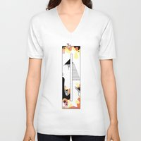typo V-neck T-shirts featuring 0 typo by Tombst0ne