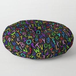 Alphabet Soup 2 Floor Pillow