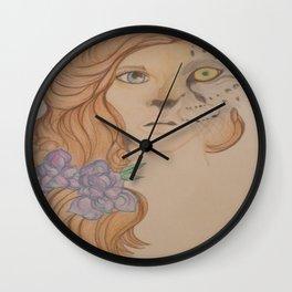 Leopard Girl Wall Clock