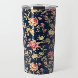 Shabby Floral Print Travel Mug