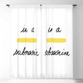 In a Yellow Submarine x Telma W. Blackout Curtain
