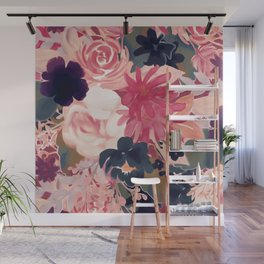 Mulberry Blooms Wall Mural