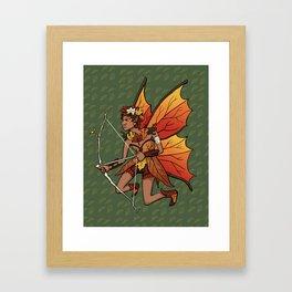 September Fairy Framed Art Print