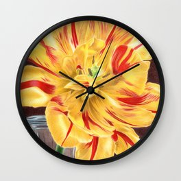 Tinge of Red Wall Clock