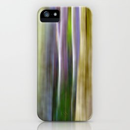 Motion Blur Trees iPhone Case
