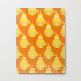 Yellow And Orange Pears Metal Print