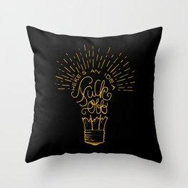 Here's an Idea Throw Pillow