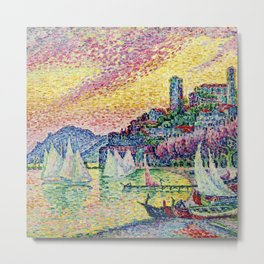 Harbor, Cannes, France Landscape by Paul Signac Metal Print
