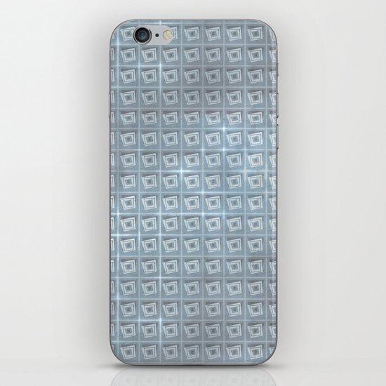 pattern (blue#1) iPhone & iPod Skin