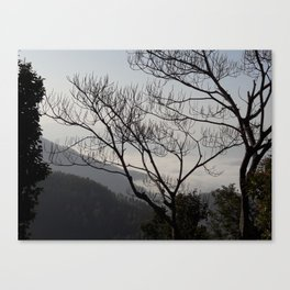 Trees and Mountains - Sindhuli, Nepal Canvas Print