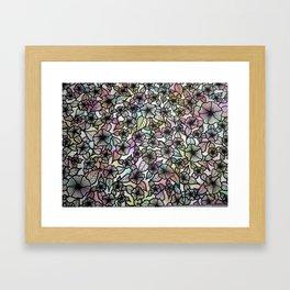 Black & White Pastel Flowers Framed Art Print