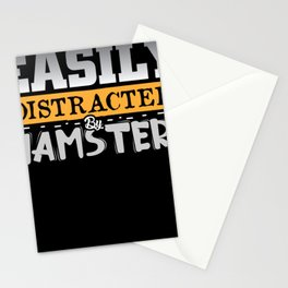 Easily distracted by Hamsters cute animal design Stationery Cards