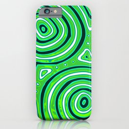 Green round shapes iPhone Case