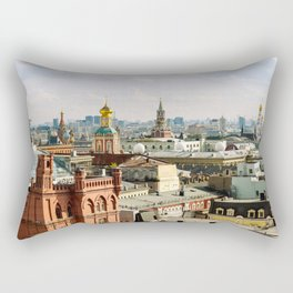 Moscow center cityscape view with Kremlin and Saint Basil's cathedral - Fine Art Travel Photography Rectangular Pillow