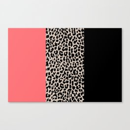 Leopard National Flag XV Canvas Print