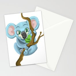 Beautiful koala bear illustration Stationery Cards