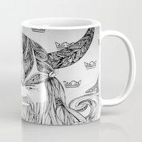 viking Mugs featuring Viking by Infra_milk