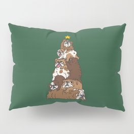 Christmas Tree English Bulldog Pillow Sham