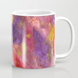 Autumn Leaves |Abstract with Gold Watercolor Coffee Mug