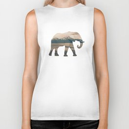 Elephant and the Homer Spit Biker Tank