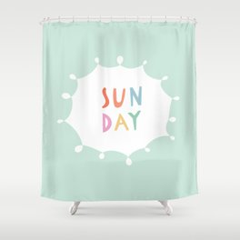 Sunday in Mint Shower Curtain
