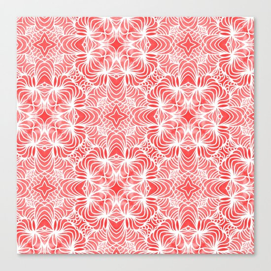 Coral Waves Canvas Print