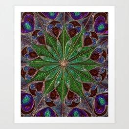 Iridescent Mandala Art Print