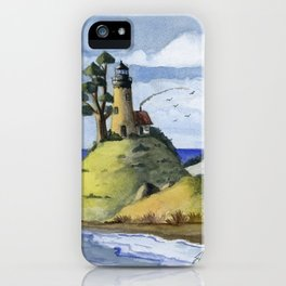 Peaceful Lighthouse IV iPhone Case