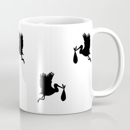 Black storks pattern Coffee Mug