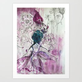 Flower Doodle Art Print