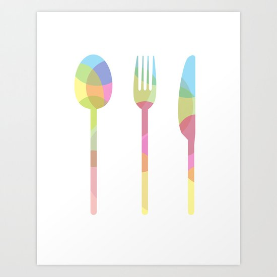 LET'S EAT Art Print