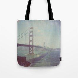 Analog photo of Golden Gate Bridge Tote Bag
