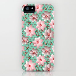Blossoms in Strawberry Ice iPhone Case