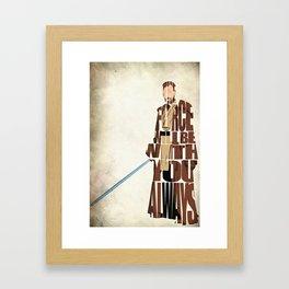 Obi-Wan Kenobi Framed Art Print