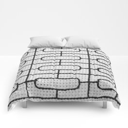 Vintage Window Grille Cross Stitch Pattern #7 Comforters