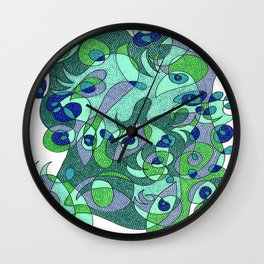 Abstract Eyes #1 Wall Clock
