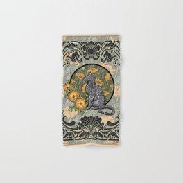 Cat Nouveau Hand & Bath Towel