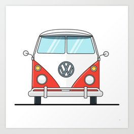 Bus life Art Print
