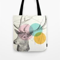 stitch Tote Bags featuring stitch doe by Vin Zzep