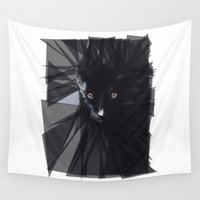 panther Wall Tapestries featuring Black Panther by die Designtante