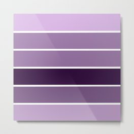 Lavender Purple Stripes Metal Print